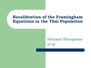 Recalibration of the Framingham Equations in the Thai