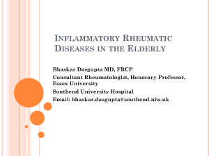 Inflammatory Rheumatic Diseases in the Elderly