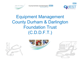 Equipment Management C.D.D.F.T.
