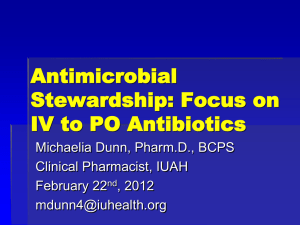 Antimicrobial Stewardship: Potential for Improvement