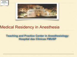 Anesthesia in the University: Present and Future
