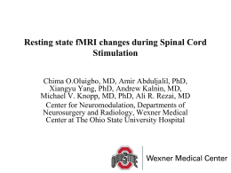 Resting state fMRI changes during Spinal Cord Stimulation