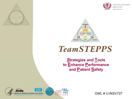 TeamStepps - Loma Linda University Medical Center