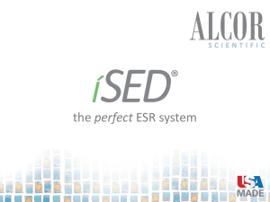 iSED - ALCOR Scientific