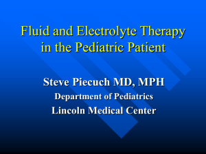 Introduction to the Principles of Fluid and Electrolyte Therapy