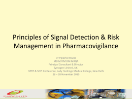 Principles of Signal Detection & Risk Management in