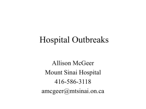 Outbreaks - Infectious Diseases