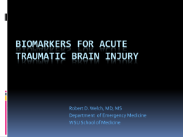 Traumatic Brain Injury Critical Care in the ED