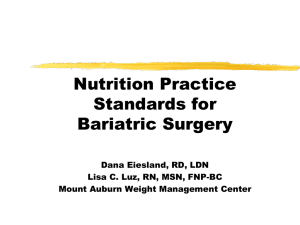 Nutrition Implications of Bariatric Surgery