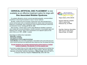 cervical artificial disc placement