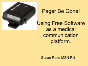 Pager Be Gone! - Street Smart Nursing