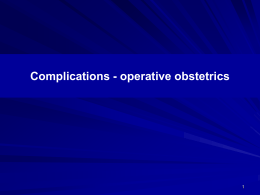 complications – operative obstertrics ppt