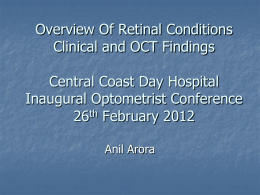 Overview Of Retinal Conditions