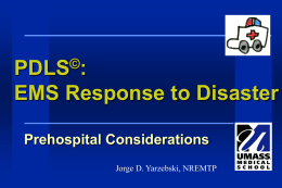 Lecture 5 EMS Response