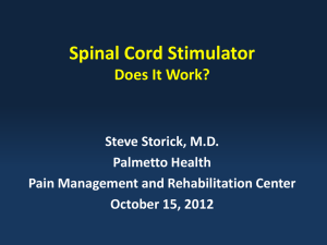 Do Spinal Cord Stimulators Work?