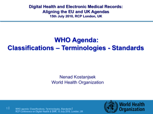 Health informatics WHO presentation