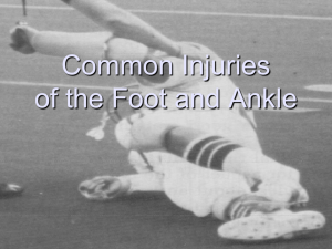 Ankle Injuries PowerPoint