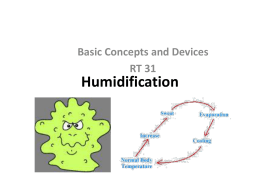 Humidification - Respiratory Therapy Files