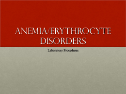 Anemia-RBCDisorders