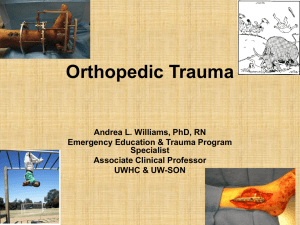 Orthopedic Injuries
