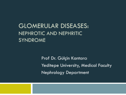 Nephrotic and nephritic Syndrome 2014