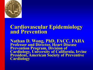 CVD Definitions and Statistics - Heart Disease Prevention Program