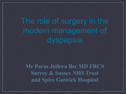 The role of surgery in the modern management of