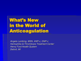 Everything You Need to Know about Anticoagulation