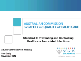 Standard 3 - Australian Commission on Safety and Quality in Health