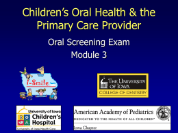 OH Training Module 3 - Oral Screening Exam
