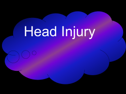 3.4 Head injury