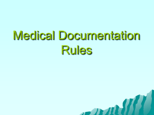Medical Documentation Rules