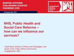 24 September 2011 NHS, Public Health and Social
