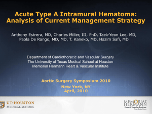 Acute Type A Intramural Hematoma: Analysis of Current