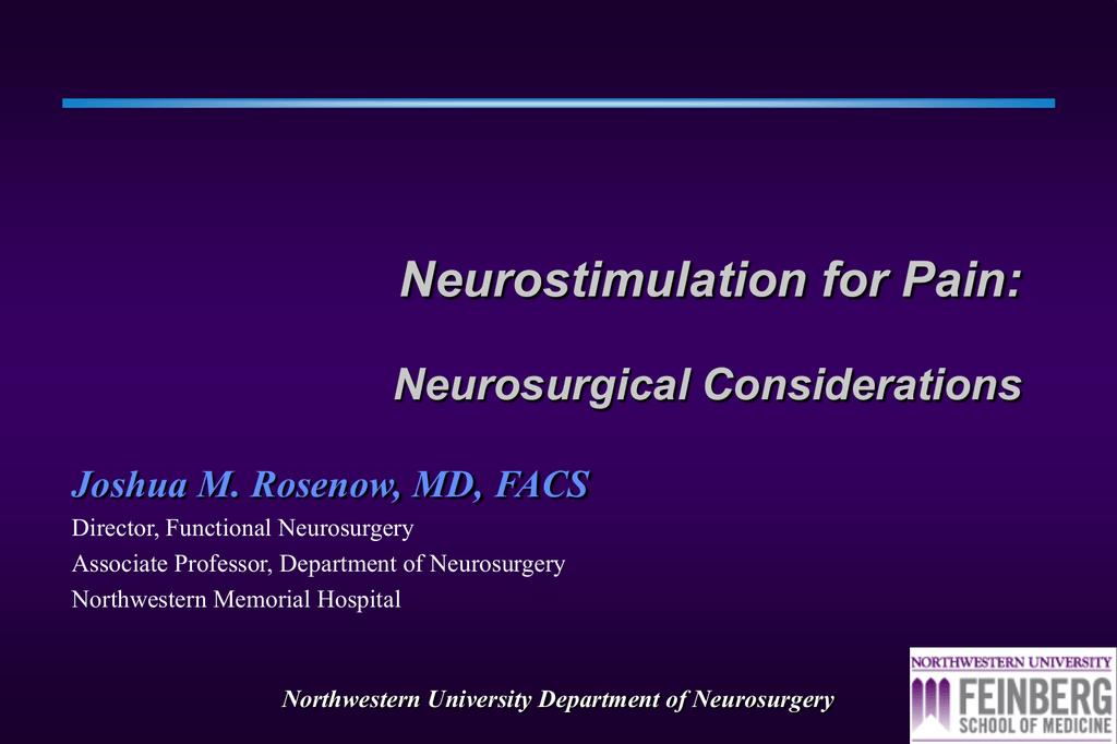 Northwestern University Department of Neurosurgery