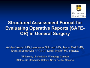 Structured Assessment of Operative Reports