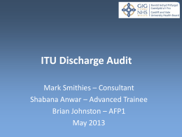 ITU Discharge Audit