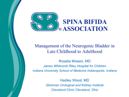 Management of the Neurogenic Bladder in Late Childhood to
