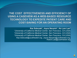 The Cost Effectiveness and Efficiency of Using a CaseView