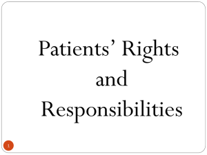 Patients` Rights and Responsibilities
