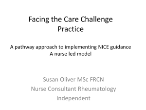 A pathway approach to implementing NICE guidance