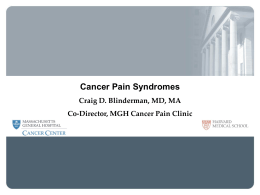 Nociceptive visceral pain - Caring for Carcinoid Foundation
