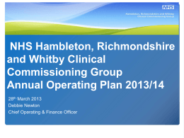 Our Annual Operating Plan 2013/14