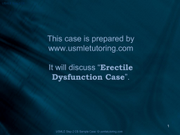 Erectile_dysfunction_clinic - USMLE Step 2 CS