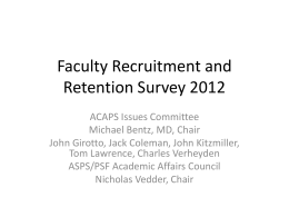 Faculty Retention Survey