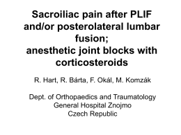 Sacroiliac pain after PLIF and/or posterolateral lumbar fusion
