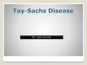 Tay-Sachs disease - Medical Genetics