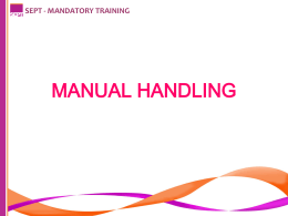13 MANUAL HANDLING  - NHS eLearning Repository