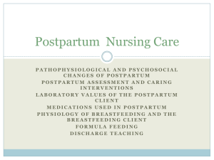 Postpartum Nursing Care