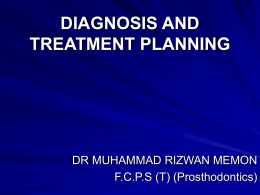 8-Diagnosis and Teatment planning